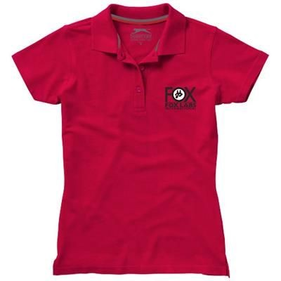 Picture of ADVANTAGE SHORT SLEEVE LADIES POLO in Red