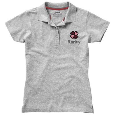 Picture of ADVANTAGE SHORT SLEEVE LADIES POLO in Grey Melange