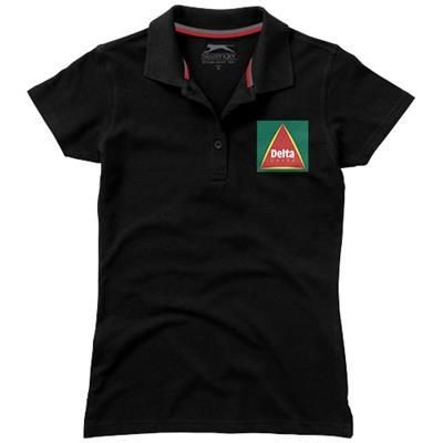 Picture of ADVANTAGE SHORT SLEEVE LADIES POLO in Black Solid