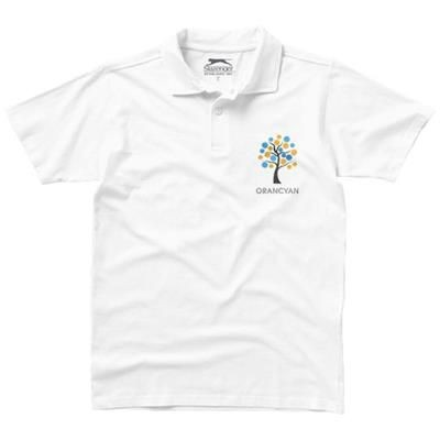 Picture of LET SHORT SLEEVE MENS JERSEY POLO in White Solid