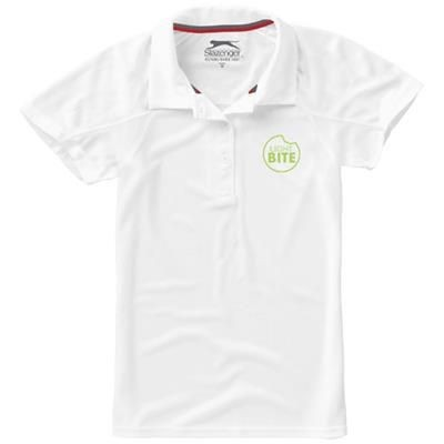 Picture of LET SHORT SLEEVE LADIES JERSEY POLO in White Solid