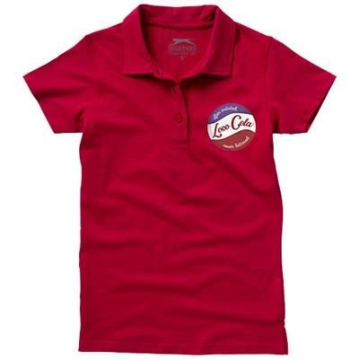 Picture of LET SHORT SLEEVE LADIES JERSEY POLO in Red