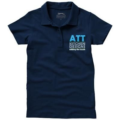 Picture of LET SHORT SLEEVE LADIES JERSEY POLO in Navy