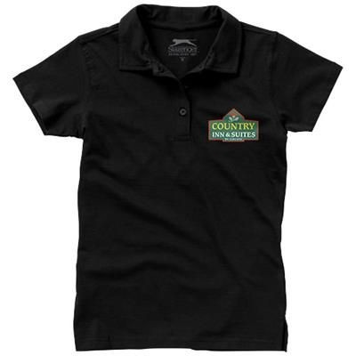 Picture of LET SHORT SLEEVE LADIES JERSEY POLO in Black Solid