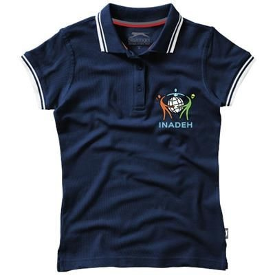 Picture of DEUCE SHORT SLEEVE LADIES POLO with Tipping in Navy