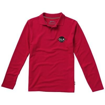 Picture of POINT LONG SLEEVE POLO in Red