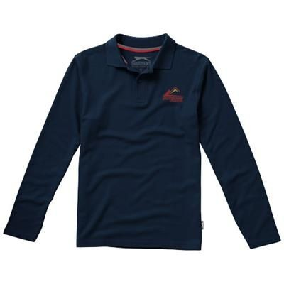 Picture of POINT LONG SLEEVE POLO in Navy