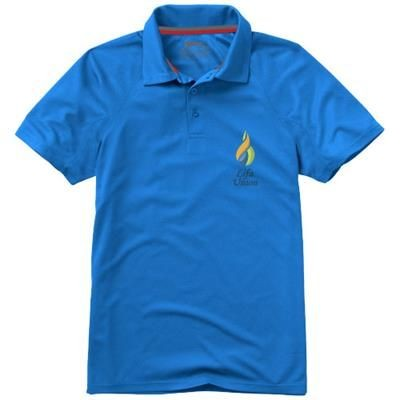 Picture of GAME SHORT SLEEVE MENS COOL FIT POLO in Light Blue