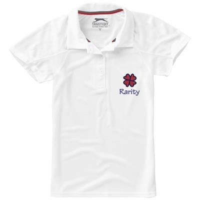 Picture of GAME SHORT SLEEVE LADIES COOL FIT POLO in White Solid