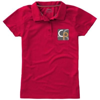 Picture of GAME SHORT SLEEVE LADIES COOL FIT POLO in Red