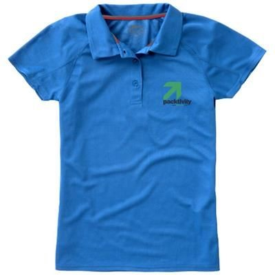 Picture of GAME SHORT SLEEVE LADIES COOL FIT POLO in Light Blue
