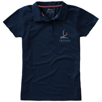 Picture of GAME SHORT SLEEVE LADIES COOL FIT POLO in Navy