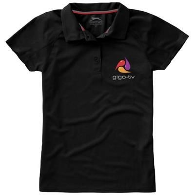Picture of GAME SHORT SLEEVE LADIES COOL FIT POLO in Black Solid