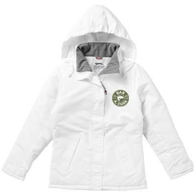 Picture of UNDER SPIN LADIES THERMAL INSULATED JACKET in White Solid