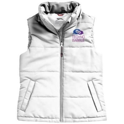 Picture of GRAVEL LADIES BODYWARMER in White Solid