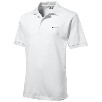 Picture of FOREHAND SHORT SLEEVE MENS POLO in White Solid