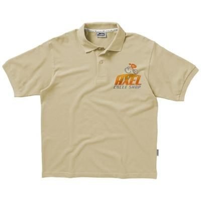 Picture of FOREHAND SHORT SLEEVE MENS POLO S in Khaki