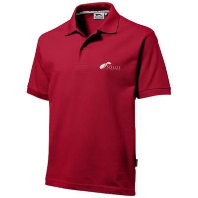 Picture of FOREHAND SHORT SLEEVE MENS POLO in Dark Red