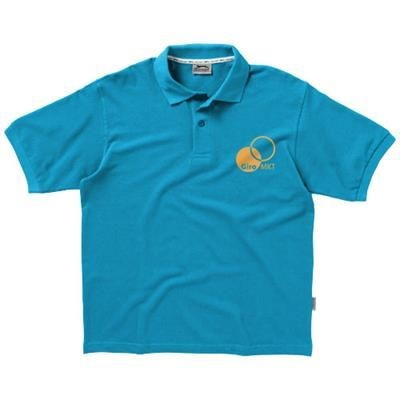 Picture of FOREHAND SHORT SLEEVE MENS POLO in Aqua