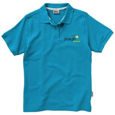 Picture of FOREHAND SHORT SLEEVE LADIES POLO in Aqua