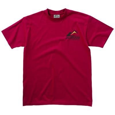 Picture of RETURN ACE SHORT SLEEVE UNISEX T-SHIRT in Dark Red