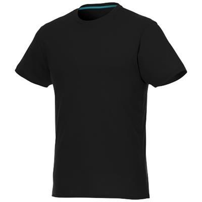 Picture of JADE SHORT SLEEVE MENS RECYCLED TEE SHIRT in Black Solid