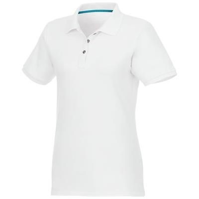 Picture of BERYL SHORT SLEEVE LADIES ORGANIC RECYCLED POLO in White Solid
