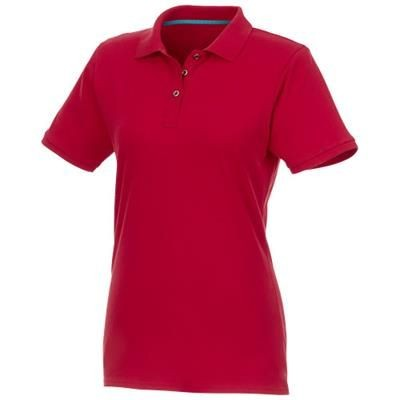 Picture of BERYL SHORT SLEEVE LADIES ORGANIC RECYCLED POLO in Red