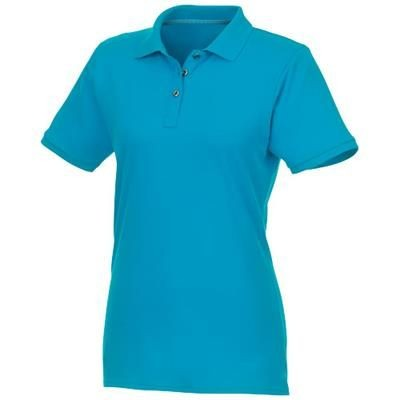 Picture of BERYL SHORT SLEEVE LADIES ORGANIC RECYCLED POLO in Nxt Blue