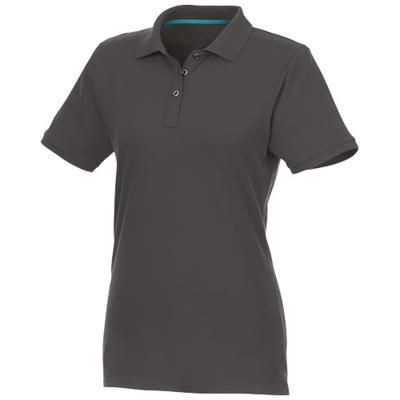 Picture of BERYL SHORT SLEEVE LADIES ORGANIC RECYCLED POLO in Storm Grey