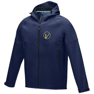 Picture of COLTAN MENS GRS RECYCLED SOFTSHELL JACKET XS in Navy