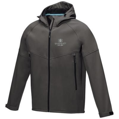 Picture of COLTAN MENS GRS RECYCLED SOFTSHELL JACKET XS in Storm Grey