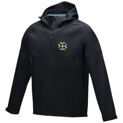 Picture of COLTAN MENS GRS RECYCLED SOFTSHELL JACKET XS in Solid Black