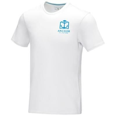 Picture of AZURITE SHORT SLEEVE MENS GOTS ORGANIC T-SHIRT XS in White