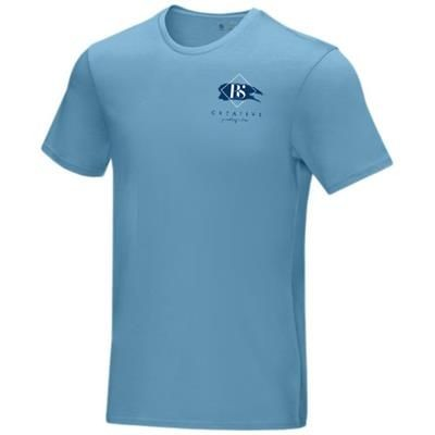 Picture of AZURITE SHORT SLEEVE MENS GOTS ORGANIC T-SHIRT XS in Nxt Blue