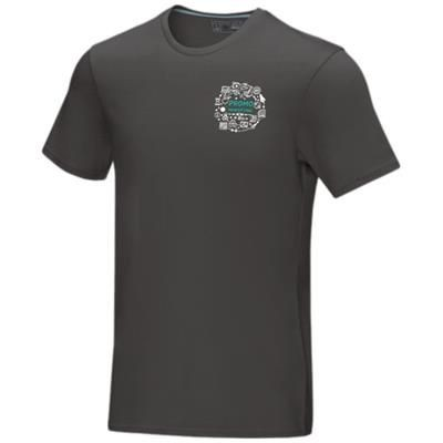 Picture of AZURITE SHORT SLEEVE MENS GOTS ORGANIC T-SHIRT XS in Storm Grey