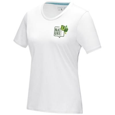 Picture of AZURITE SHORT SLEEVE LADIES GOTS ORGANIC T-SHIRT XS in White