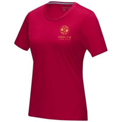 Picture of AZURITE SHORT SLEEVE LADIES GOTS ORGANIC T-SHIRT XS in Red