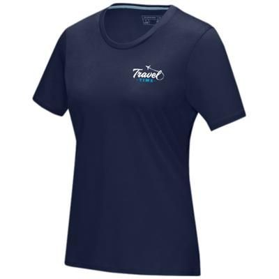 Picture of AZURITE SHORT SLEEVE LADIES GOTS ORGANIC T-SHIRT XS in Navy