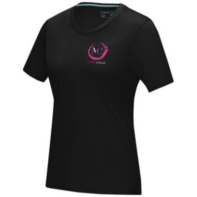 Picture of AZURITE SHORT SLEEVE LADIES GOTS ORGANIC T-SHIRT XS in Solid Black