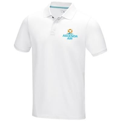Picture of GRAPHITE GREY SHORT SLEEVE MENS GOTS ORGANIC POLO XS in White