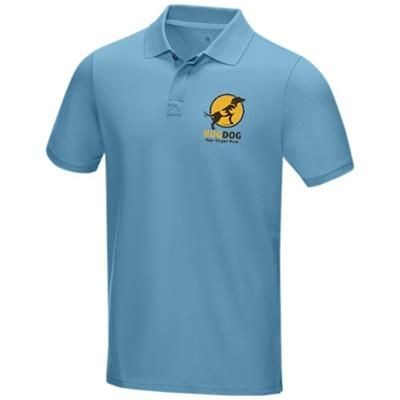 Picture of GRAPHITE GREY SHORT SLEEVE MENS GOTS ORGANIC POLO XS in Nxt Blue