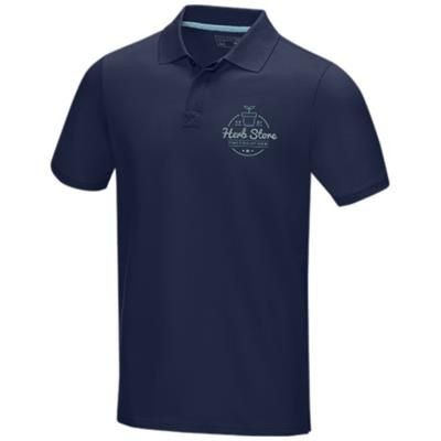 Picture of GRAPHITE GREY SHORT SLEEVE MENS GOTS ORGANIC POLO XS in Navy