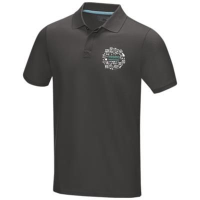Picture of GRAPHITE GREY SHORT SLEEVE MENS GOTS ORGANIC POLO XS in Storm Grey