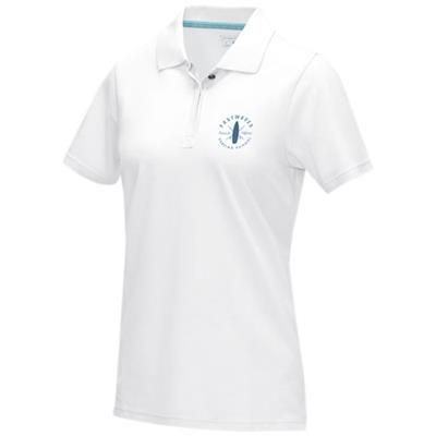 Picture of GRAPHITE GREY SHORT SLEEVE LADIES GOTS ORGANIC POLO XS in White