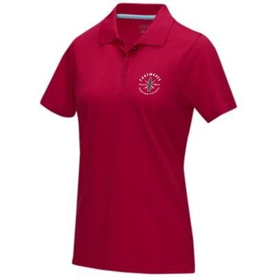 Picture of GRAPHITE GREY SHORT SLEEVE LADIES GOTS ORGANIC POLO XS in Red