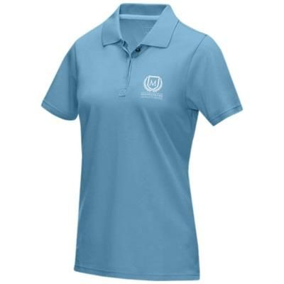 Picture of GRAPHITE GREY SHORT SLEEVE LADIES GOTS ORGANIC POLO XS in Nxt Blue