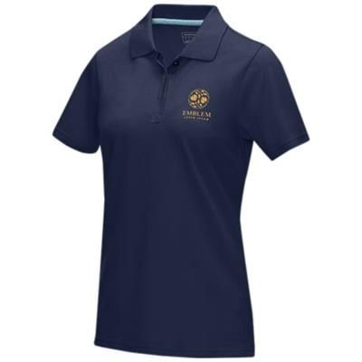 Picture of GRAPHITE GREY SHORT SLEEVE LADIES GOTS ORGANIC POLO XS in Navy