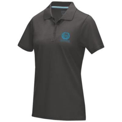 Picture of GRAPHITE GREY SHORT SLEEVE LADIES GOTS ORGANIC POLO XS in Storm Grey