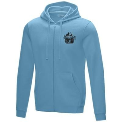 Picture of RUBY MENS GOTS ORGANIC GRS RECYCLED FULL ZIP HOODED HOODY XS in Nxt Blue